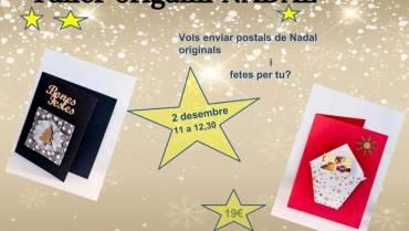 Postals de Nadal amb origami